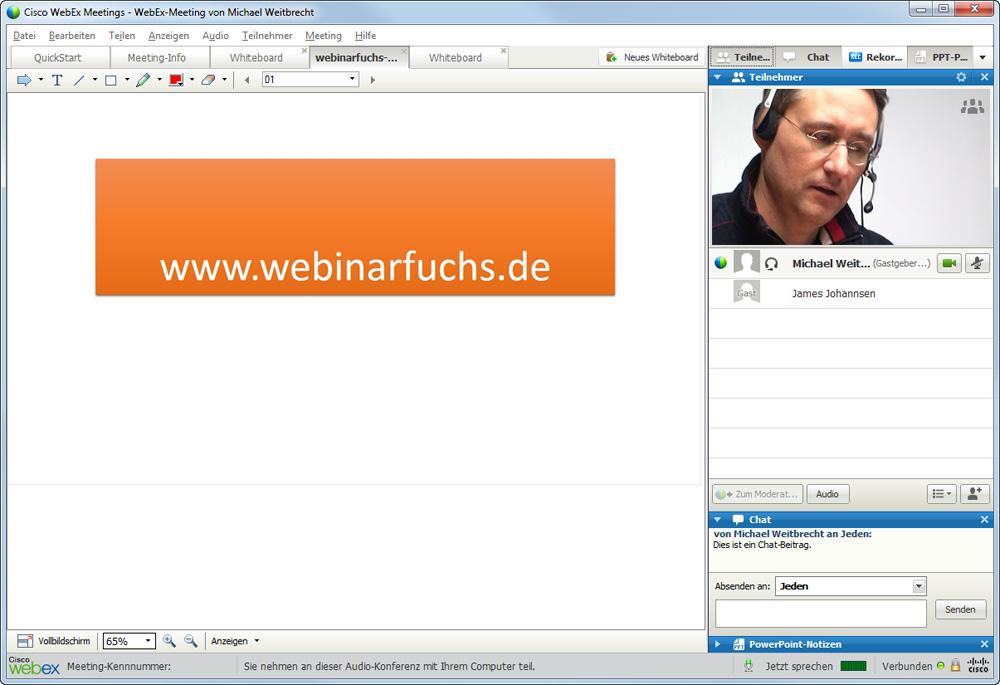 Webex Oberfläche